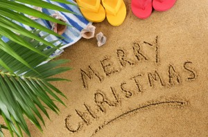Christmas beach background